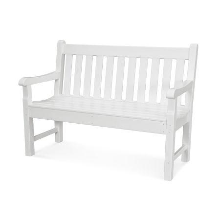 """Rockford 48"""" Bench in White"""