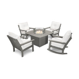 Polywood 174 Vineyard 5 Piece Deep Seating Rocking Chair