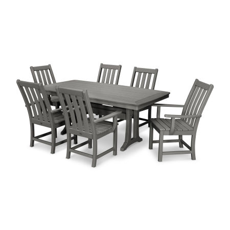 Vineyard 7-Piece Dining Set in Slate Grey