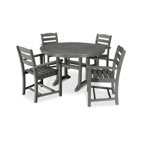 La Casa Café 5 Piece Arm Chair Dining Set