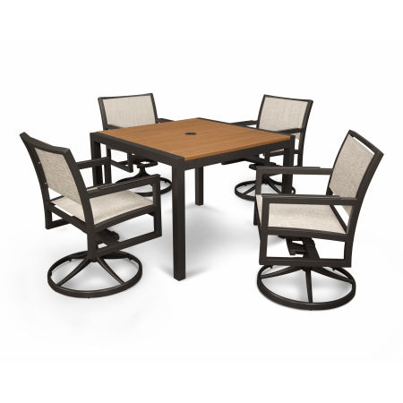 Parsons 5-Piece Swivel Rocker Dining Set