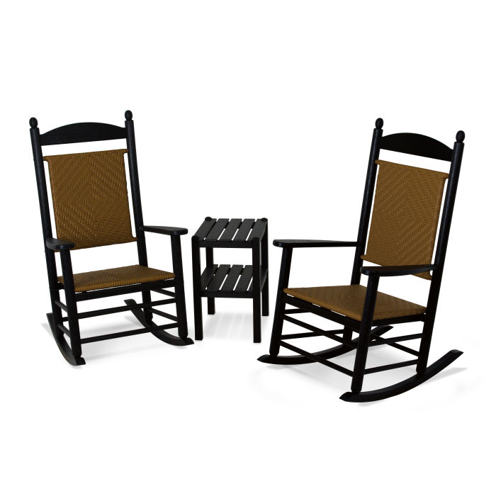 Jefferson 3 Piece Woven Rocking Chair Set