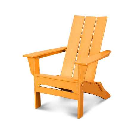 Modern Folding Adirondack in Tangerine