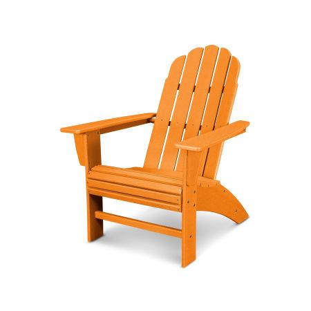 Vineyard Curveback Adirondack Chair in Vintage Tangerine