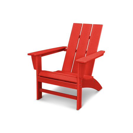 Modern Adirondack Chair in Vintage Sunset Red
