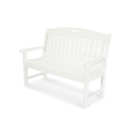 "Nautical 48"" Bench in White"