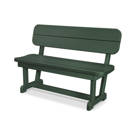 """Park 48"""" Bench in Green"""