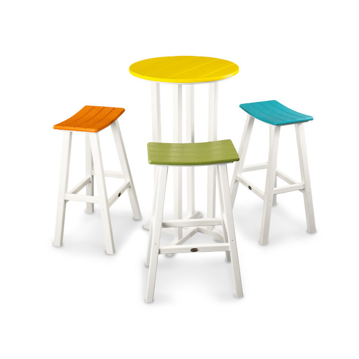 Phenomenal Contempo 4 Piece Saddle Bar Stool Set Cjindustries Chair Design For Home Cjindustriesco