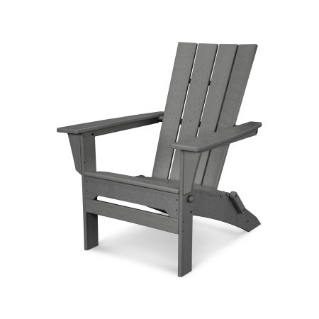 Quattro Folding Adirondack in Slate Grey