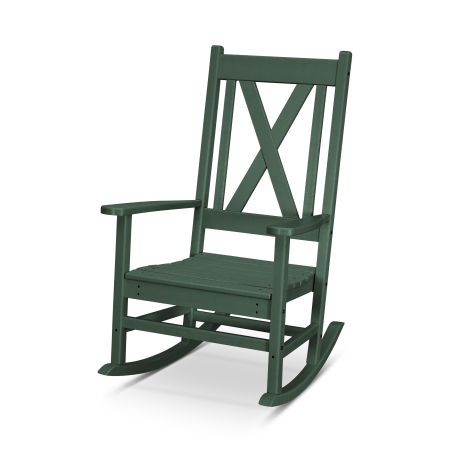Braxton Porch Rocking Chair in Green