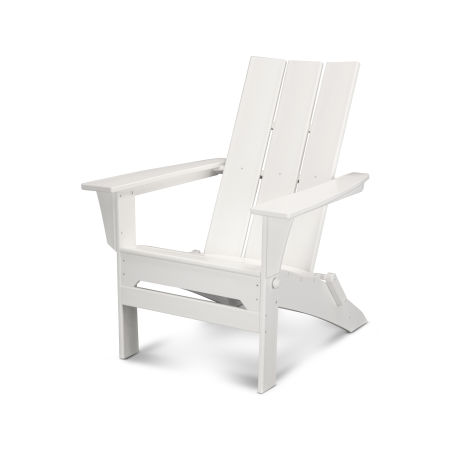 Modern Folding Adirondack in White