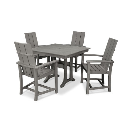 Modern Adirondack 5-Piece Farmhouse Dining Set