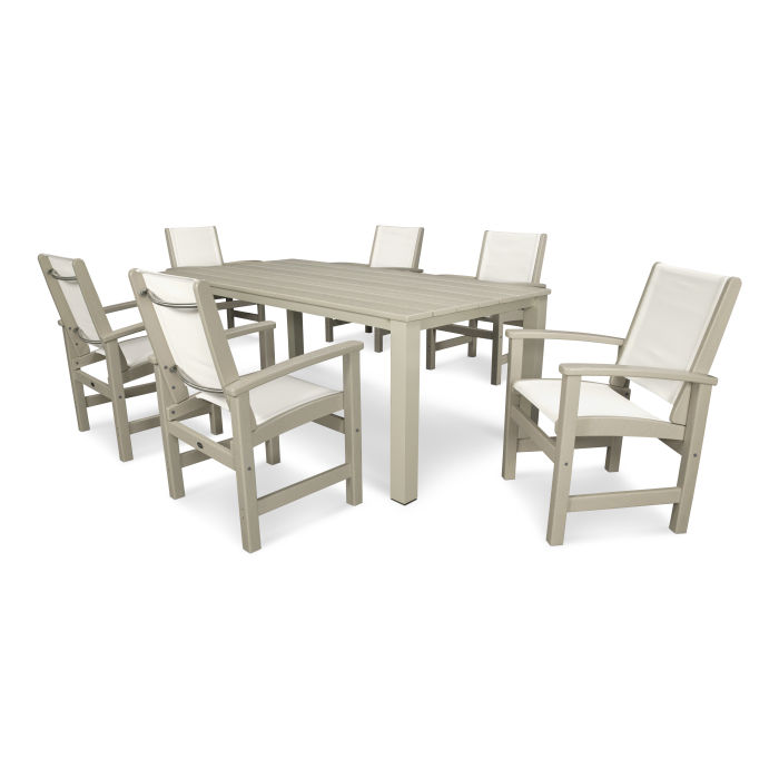 Pleasant Coastal 7 Piece Harvest Dining Set Dailytribune Chair Design For Home Dailytribuneorg