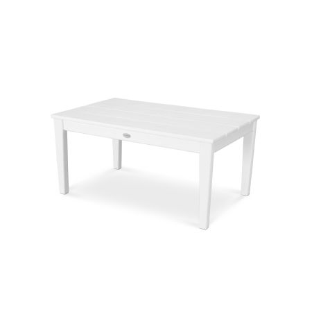 """Newport 22"""" x 36"""" Coffee Table in Vintage White"""