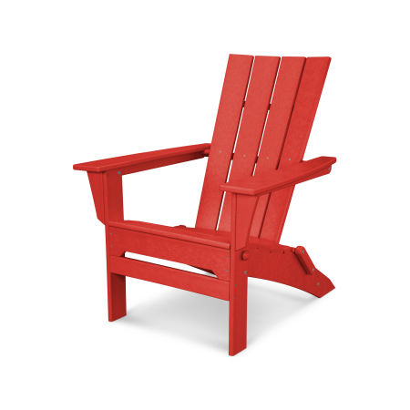 Quattro Folding Adirondack in Sunset Red