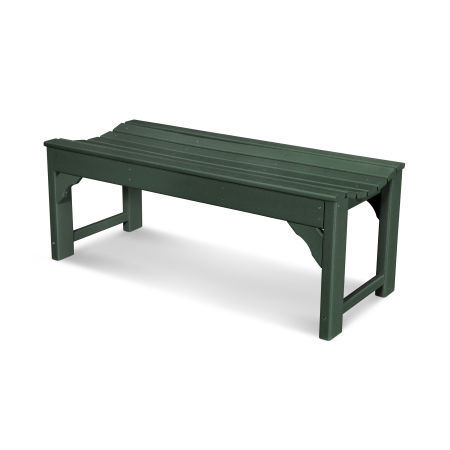 """Traditional Garden 48"""" Backless Bench in Green"""