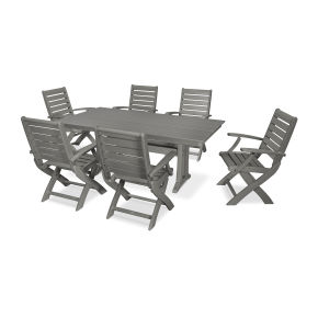 Signature 7 Piece Folding Chair Dining Set
