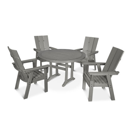 Modern Adirondack 5-Piece Nautical Trestle Dining Set