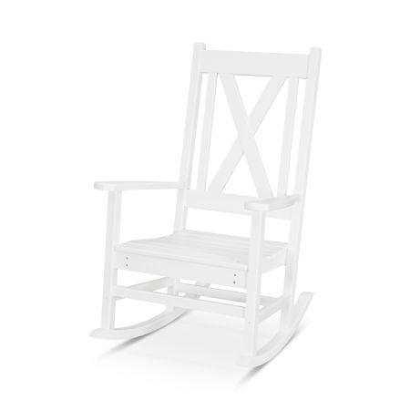 Braxton Porch Rocking Chair in White