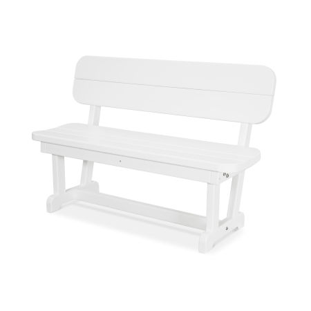 "Park 48"" Bench in White"
