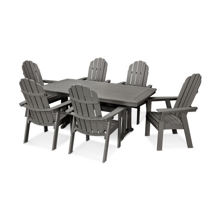 Vineyard Adirondack 7-Piece Nautical Trestle Dining Set