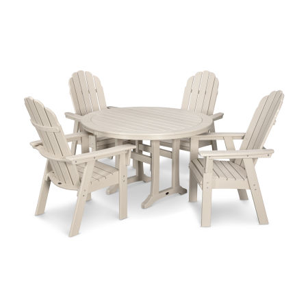 Vineyard Adirondack 5-Piece Nautical Trestle Dining Set
