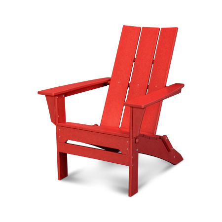 Modern Folding Adirondack in Sunset Red