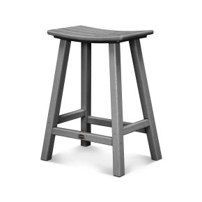 "Traditional 24"" Saddle Bar Stool"