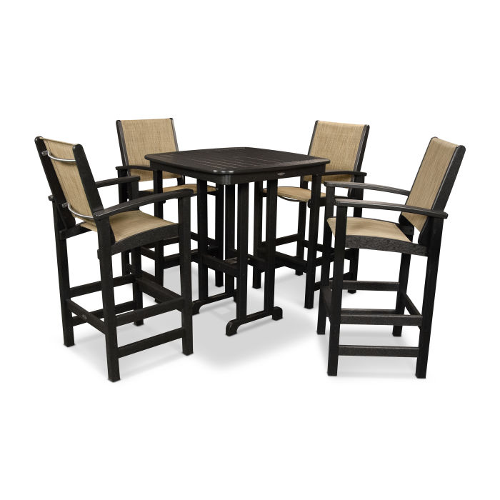 Peachy Coastal 5 Piece Bar Set Dailytribune Chair Design For Home Dailytribuneorg
