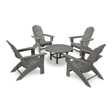 Vineyard 5-Piece Curveback Adirondack Set