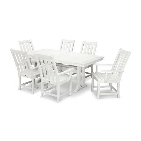 Vineyard 7-Piece Dining Set in White