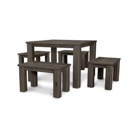 "5 Piece 28"" Harvest Bench Set"