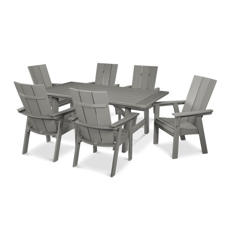 Modern Adirondack 7-Piece Rustic Farmhouse Dining Set