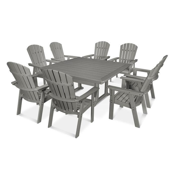 polywood nautical adirondack 9 piece trestle dining set pws375 1