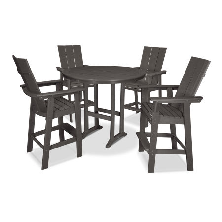 Modern Adirondack 5-Piece Nautical Trestle Bar Set in Vintage Finish