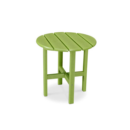 """Round 18"""" Side Table in Vintage Lime"""
