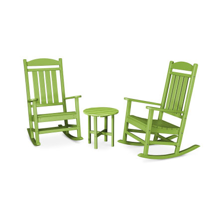Presidential 3-Piece Rocker Set in Lime
