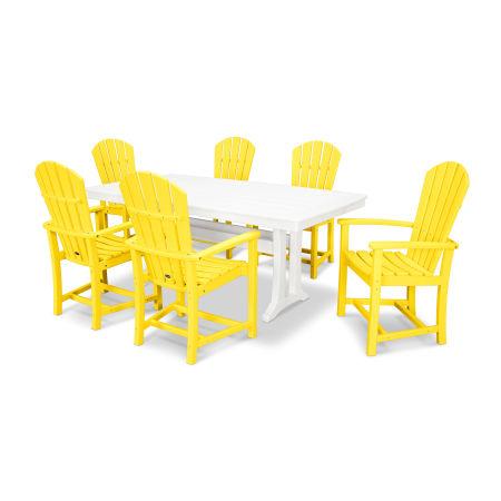 Palm Coast 7 Piece Dining Set in Lemon